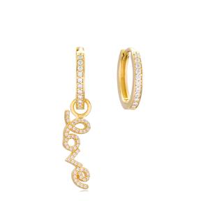 Love Design Earrings Handmade 925 Sterling Silver Jewelry