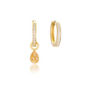 Minimalist Drop Shape Earrings Handmade 925 Sterling Silver Jewelry