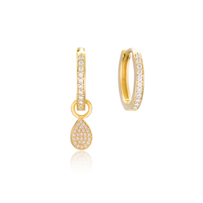 Drop Shape Earrings Handmade 925 Sterling Silver Jewelry