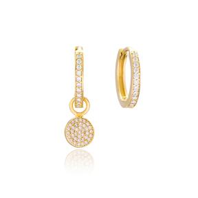 Round Shape Earrings Wholesale Handmade 925 Sterling Silver Jewelry