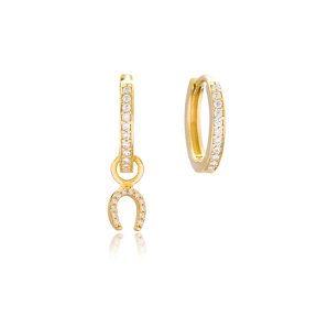 Horseshoe Shape Earrings Wholesale Handmade 925 Sterling Silver Jewelry