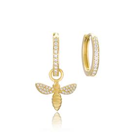 Bee Shape Earrings Wholesale Handmade 925 Sterling Silver Jewelry