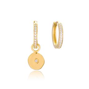 Basic Round Shape Earrings Wholesale Handmade 925 Sterling Silver Jewelry