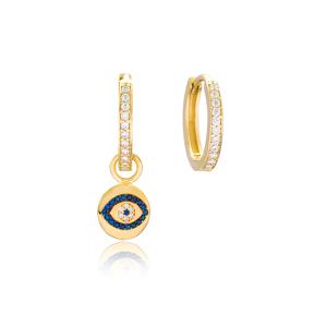 Evil Eye Design Earrings Wholesale Handmade 925 Sterling Silver Jewelry