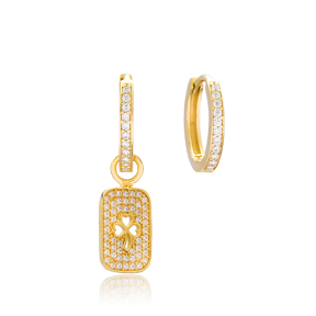 Clover Design Earrings Wholesale Handmade 925 Sterling Silver Jewelry