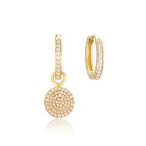 Round Shape Design Earrings Wholesale Handmade 925 Sterling Silver Jewelry
