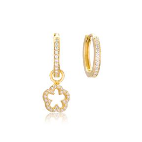 Flower Shape Earrings Wholesale Handmade 925 Sterling Silver Jewelry