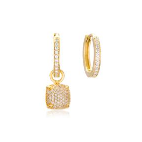 Square Shape Earrings Wholesale Handmade 925 Sterling Silver Jewelry