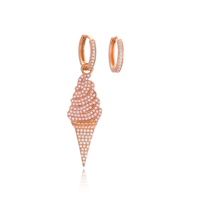 New Design Ice Cream Trendy Jewelry Wholesale 925 Sterling Silver Earrings