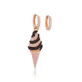 Fashion Ice Cream Jewelry Wholesale 925 Sterling Silver Trendy Earrings