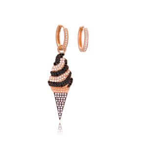 Ice Cream Shape Fashion Earrings Wholesale 925 Sterling Silver Jewelry