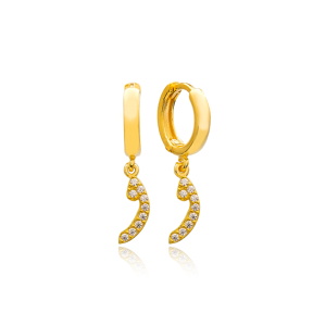 Waav Letter Arabic Alphabet Wholesale Handmade 925 Sterling Silver Dangle Earrings