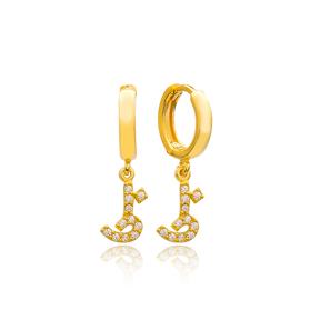 Thaa Letter Arabic Alphabet Wholesale Handmade 925 Sterling Silver Dangle Earrings
