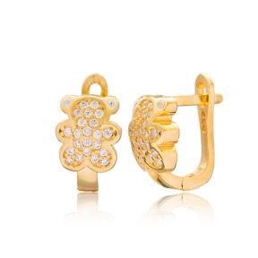 Minimalist Bear Design Turkish Handmade Wholesale 925 Sterling Silver Jewelry