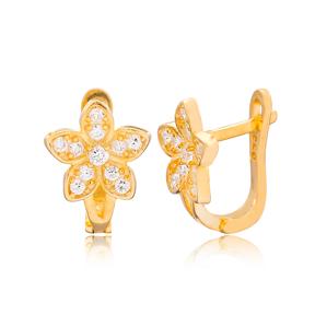 Flower Design Turkish Handmade Wholesale 925 Sterling Silver Jewelry
