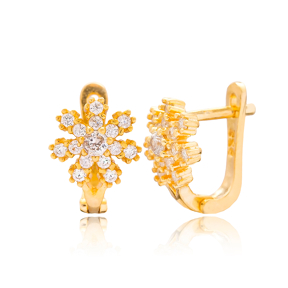 Elegant Snowflake Design Turkish Handmade Wholesale 925 Sterling Silver Jewelry