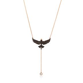 Lariat Phoenix Bird Necklace Turkish Wholesale 925 Sterling Silver Jewelry