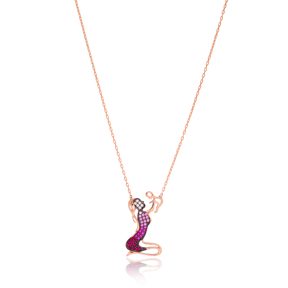 Mother And Baby Design Pendant Turkish Wholesale 925 Sterling Silver Jewelry