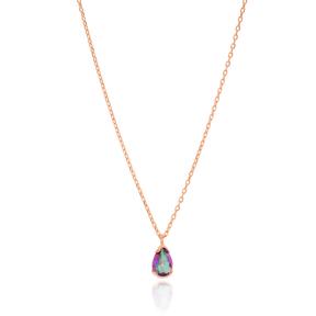 MysticTopaz Stone Teardrop Gemstone Pendant Wholesale 925 Sterling Silver Jewelry