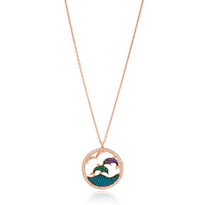Dolphin Design Pendant Turkish Wholesale Handcrafted 925 Silver Jewelry