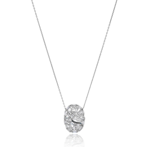 Dainty Minimal Pendant Turkish Wholesale Handcrafted 925 Silver Jewelry