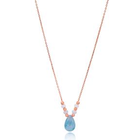 Teardrop Stone shape Pendant Turkish Wholesale Sterling Silver Fashion Jewelry