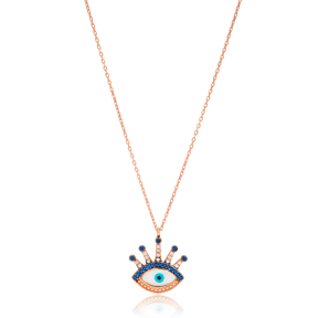 Evil Eye Design Pendant Wholesale Handcrafted 925 Silver Jewelry