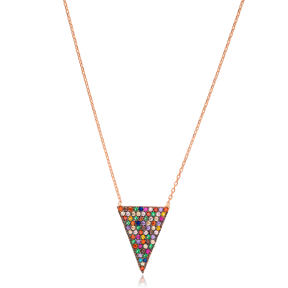 Geometric Shape Pendant Turkish Wholesale 925 Sterling Silver Jewelry