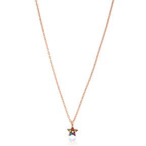 Tiny Star Pendant Turkish Wholesale 925 Sterling Silver Jewelry