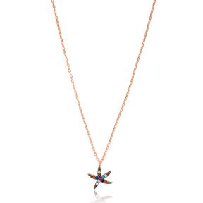 Rainbow Sea Star Pendant Turkish Wholesale 925 Sterling Silver Jewelry