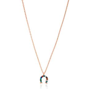 Colorful Horseshoe Pendant Turkish Wholesale 925 Sterling Silver Jewelry