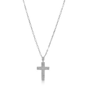 Cross Pave Zircon Design Pendant Turkish Wholesale 925 Sterling Silver