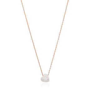 White Quartz Heart Shape Pendant Turkish Wholesale Sterling Silver Jewelry
