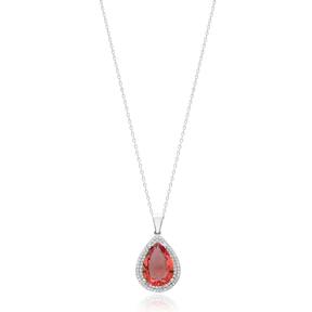 Fashion Drop Shape Zultanite Stone Pendant Turkish Wholesale 925 Sterling Silver Jewelry