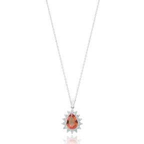 New Fashion Drop Shape Zultanite Stone Pendant Turkish Wholesale 925 Sterling Silver Jewelry