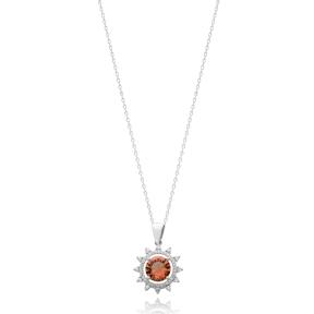 Fashionable Round Shape Zultanite Stone Pendant Turkish Wholesale 925 Sterling Silver Jewelry
