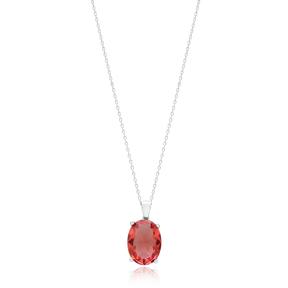 Oval Shape Zultanite Stone Pendant Turkish Wholesale 925 Sterling Silver Jewelry