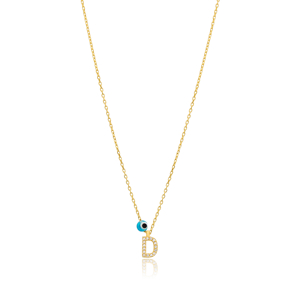 Alphabet Letter D Charm Necklace Wholesale 925 Sterling Silver Jewelry