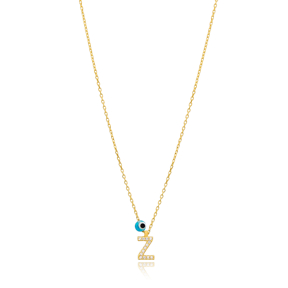 Alphabet Letter Z Charm Necklace Wholesale 925 Sterling Silver Jewelry