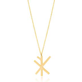Wealth Means Vikings Symbol Design Wholesale Handmade 925 Silver Sterling Necklace