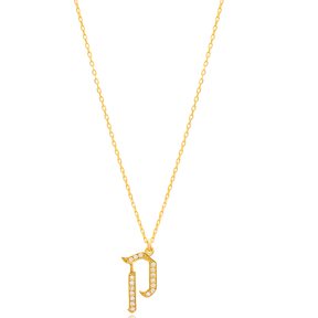 Kuf Letter Hebrew Alphabet Design Wholesale Handmade 925 Silver Sterling Necklace