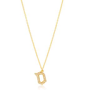 Samekh Letter Hebrew Alphabet Design Wholesale Handmade 925 Silver Sterling Necklace