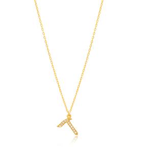 Dalet Letter Hebrew Alphabet Design Wholesale Handmade 925 Silver Sterling Necklace