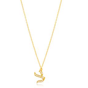 Tzadi Letter Hebrew Alphabet Design Wholesale Handmade 925 Silver Sterling Necklace