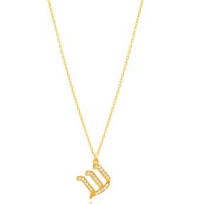 Shin Letter Hebrew Alphabet Design Wholesale Handmade 925 Silver Sterling Necklace