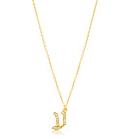 Ayin Letter Hebrew Alphabet Design Wholesale Handmade 925 Silver Sterling Necklace