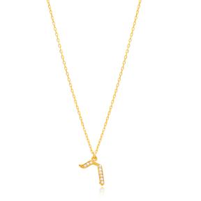 Raysh Letter Hebrew Alphabet Design Wholesale Handmade 925 Silver Sterling Necklace