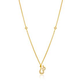 Dzaad Letter Arabic Alphabet Design Wholesale Handmade 925 Silver Sterling Necklace