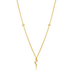 Miim Letter Arabic Alphabet Design Wholesale Handmade 925 Silver Sterling Necklace