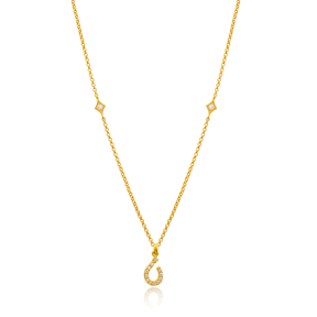 Nuun Letter Arabic Alphabet Design Wholesale Handmade 925 Silver Sterling Necklace